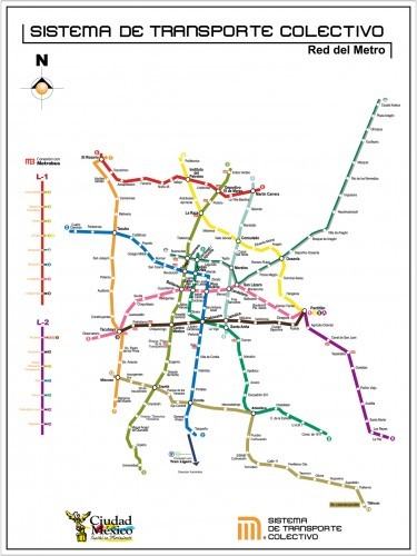 carta PLANO DE RED linea 12 SIN calles METROBUS