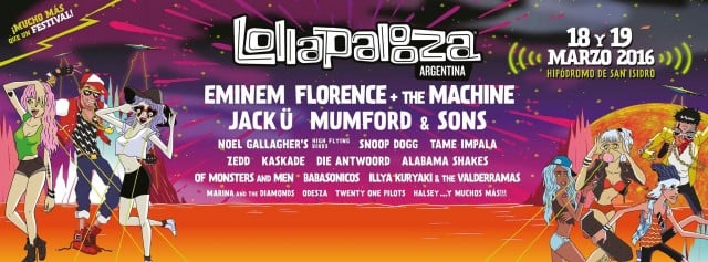 Lollapalooza reveals 2017 lineups for Brazil, Argentina, and Chile ...
