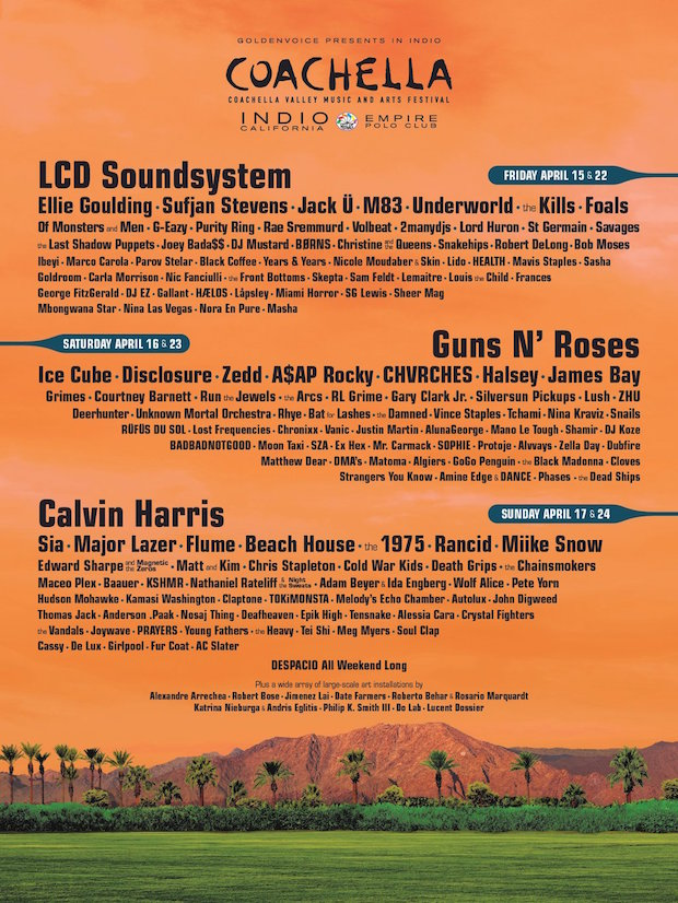 coachella 2016 line-up