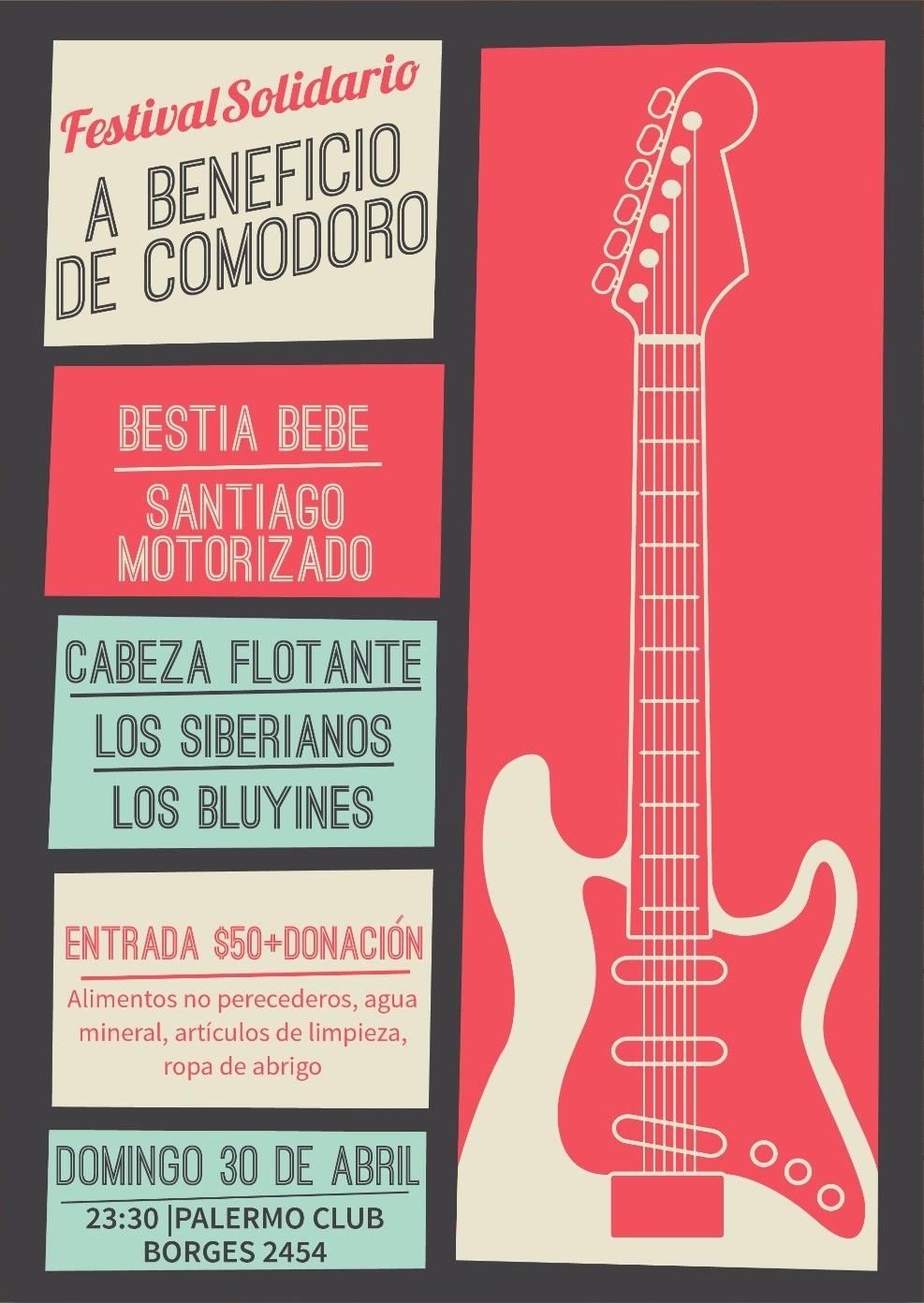 Los festivales a beneficio de los inundados en Comodoro Rivadavia