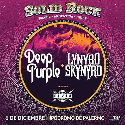 Solid Rock Festival: Deep Purple + Lynyrd Skynyrd en Argentina
