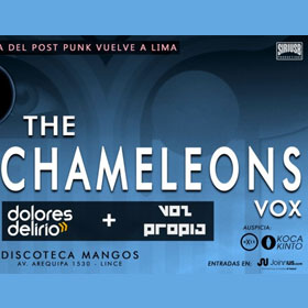 The Chameleons Vox en Perú