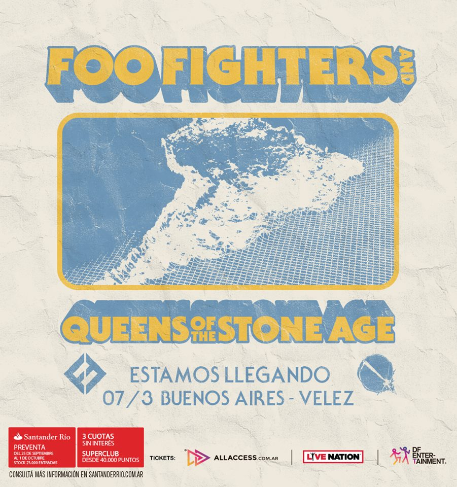 Foo Fighters + Queens of the Stone Age en Argentina
