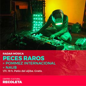 Radar Música: Naub, Peces Raros y Pommez Internacional