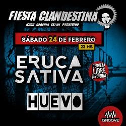 Eruca Sativa y Huevo en la Fiesta Clandestina