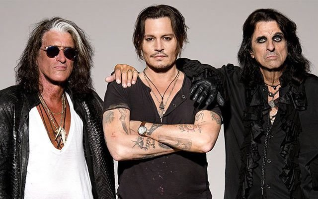Hollywood Vampires, la banda de Johnny Depp, Alice Cooper y Joe Perry, sale de gira