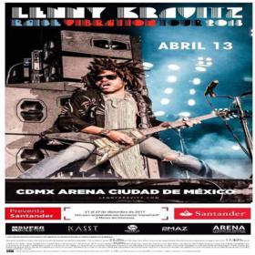 Lenny Kravitz en la Ciudad de México