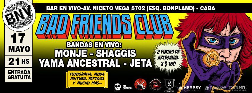 Bad Friends Club: Shaggis en Bar en Vivo