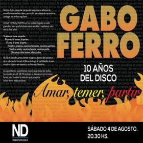 Gabo Ferro en ND Teatro