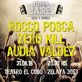 Zero Kill + Audia Valdez + Rocco Posca en Teatro El Cubo