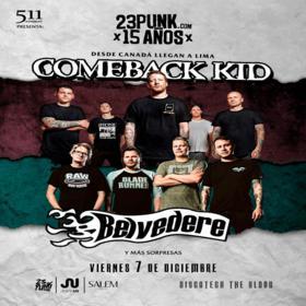Comeback Kid y Belvedere en Perú