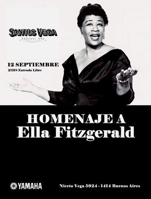 Homenaje a Ella Fitzgerald en Santos Vega