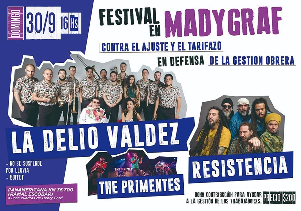 Festival con la Delio Valdez en Madygraf