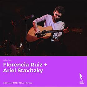 Florencia Ruiz y Ariel Stavitzky en el Centro Cultural Recoleta