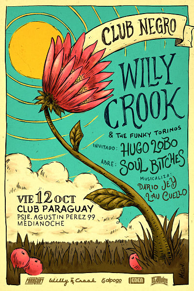 Hugo Lobo FT Willy Crook y los Funky Torinos + Soul Bitches en Córdoba