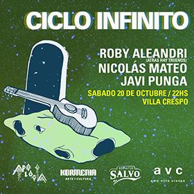 Javi Punga + Nicolás Mateo + Roby Aleandri en Espacio Salvo