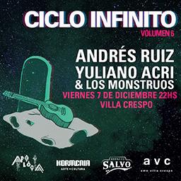 Andrés Ruiz + Yuliano Acri & Los Monstruos en Espacio Salvo