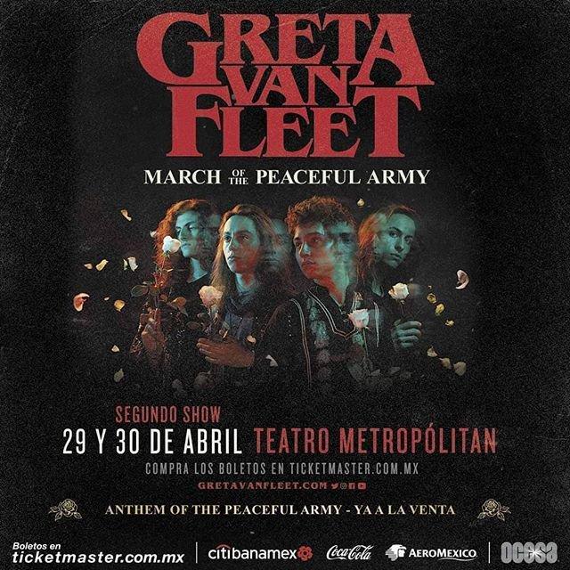 Greta Van Fleet en México