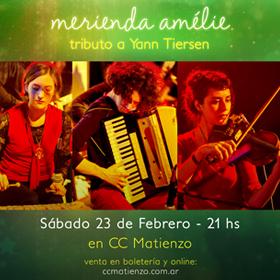 Merienda Amélie (tributo a Yann Tiersen) en CC Matienzo