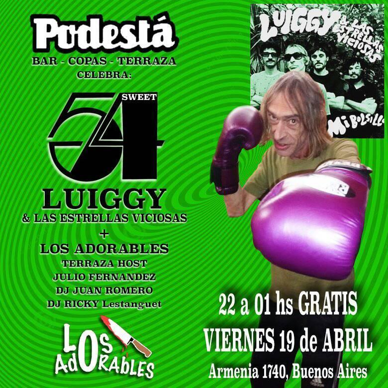 Luiggy y las estrellas viciosas en Podestá
