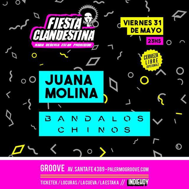 Juana Molina y Bandalos Chinos en Groove