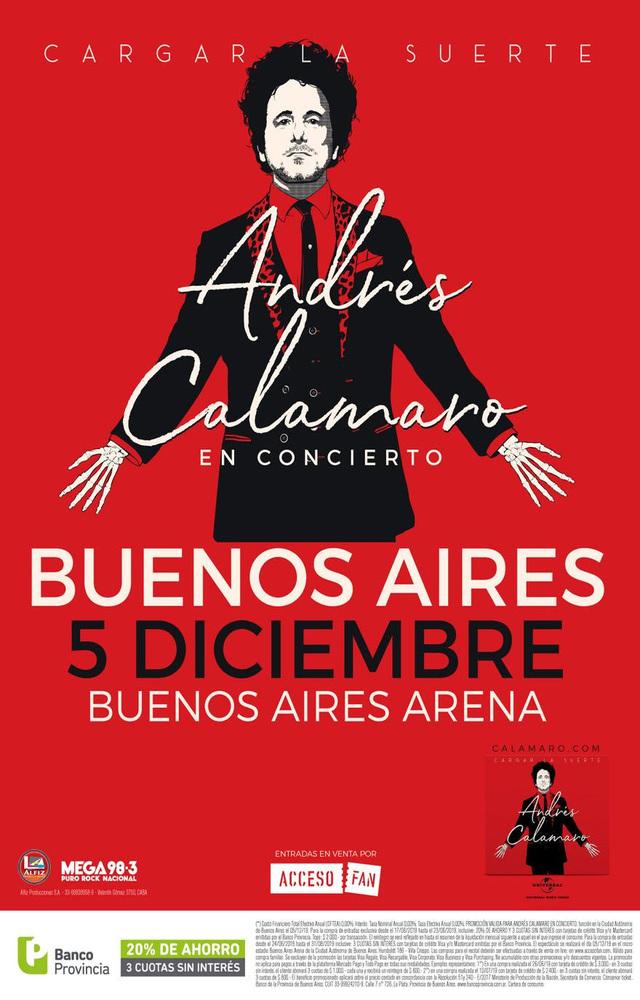 Andrés Calamaro en Buenos Aires Arena