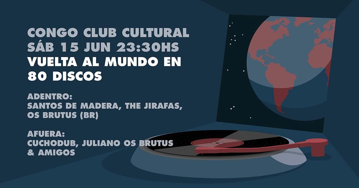 Os Brutus + The Jirafas + Santos de Madera en Congo Club Cultural