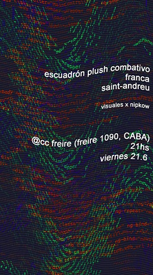Franca, Saint-Andreu y Escuadrón Plush Combativo en CC Freire