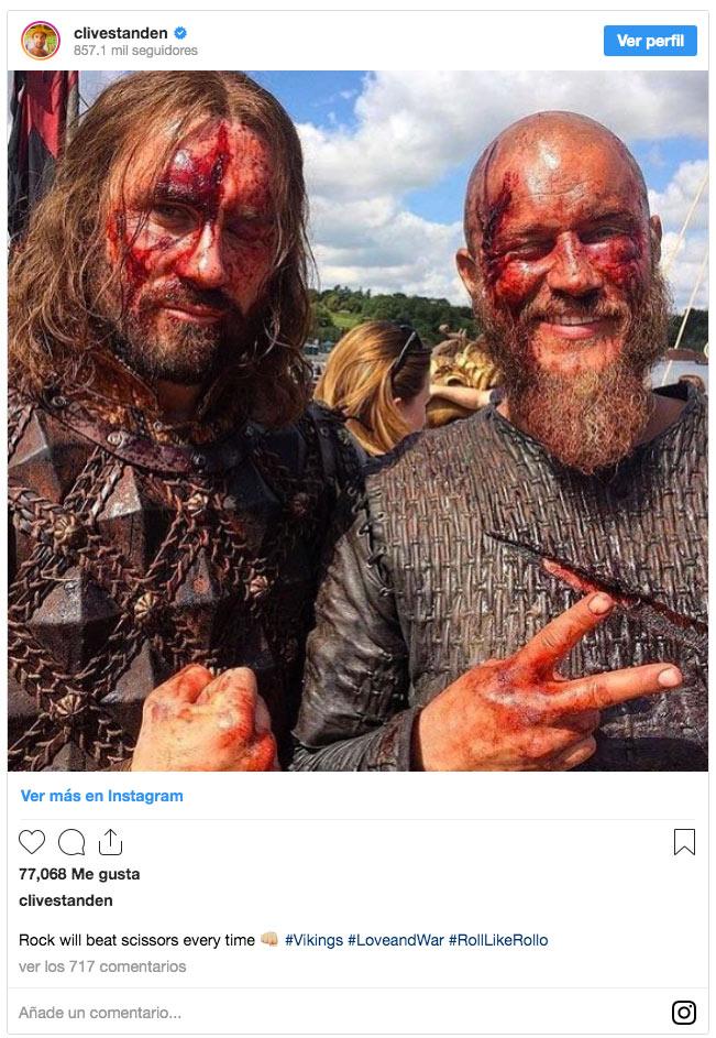 Vikingos: Clive Standen comparte fotos inéditas de Rollo