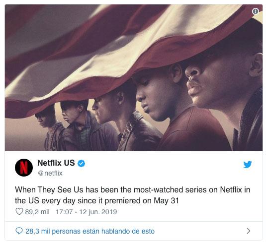Así nos ven se convierte en la serie más vista en Netflix