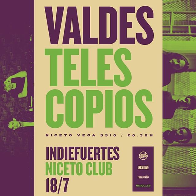 Valdes y Telescopios en Niceto Club