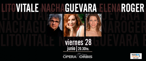 Lito Vitale + Nacha Guevara + Elena Roger en Teatro Ópera Orbis