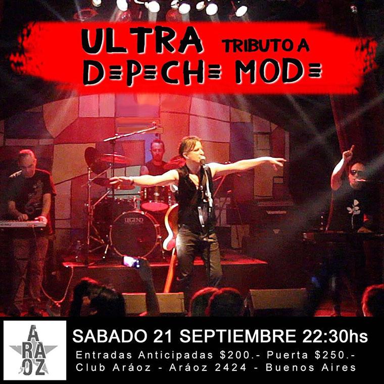 ULTRA Tributo a Depeche Mode en Club Araoz