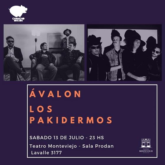 Ávalon + Los Pakidermos en Teatro Monteviejo