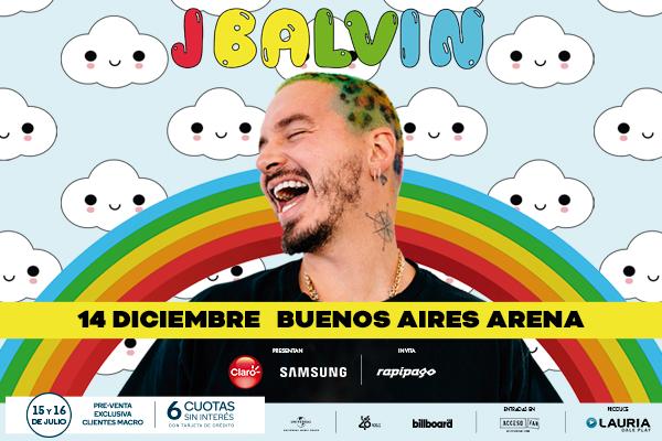 J Balvin en el Buenos Aires Arena