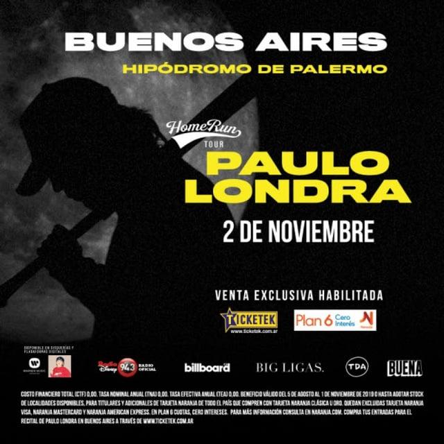 Paulo Londra en el Hipódromo de Palermo