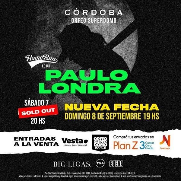 Paulo Londra en Córdoba