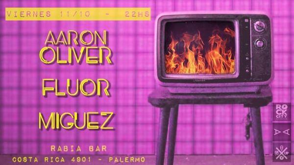 Fluor y Aaron Oliver en Rabia Bar