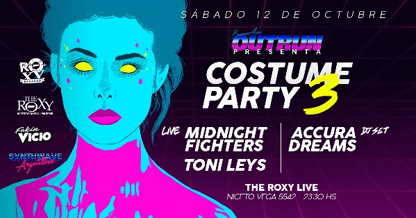 Buenos Aires Outrun Costume Party 3 en The Roxy Live