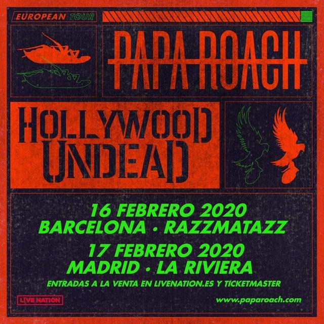 Papa Roach en Madrid
