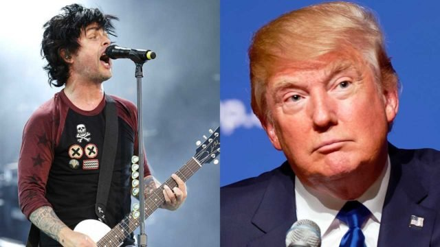 Billie Joe Armstrong de Green Day dice que Donald Trump le da diarrea