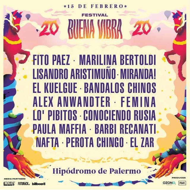 Festival Buena Vibra en el Hipódromo de Palermo