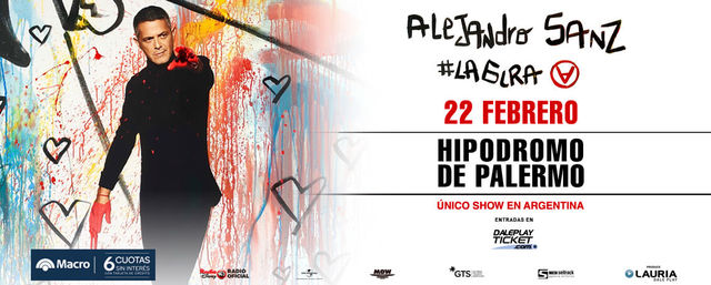 Alejandro Sanz en el Hipódromo de Palermo