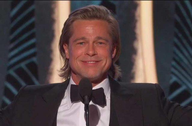 """Brad Pitt dedica su Globo de Oro a Leonardo DiCaprio:""""Yo habría compartido la tabla"""""""