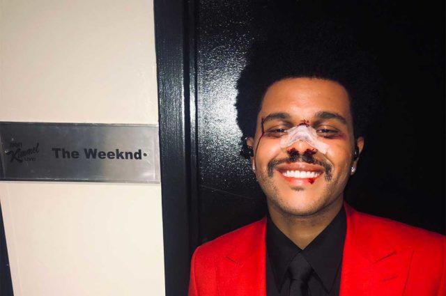 Así fue el show de The Weeknd en el programa de Jimmy Kimmel
