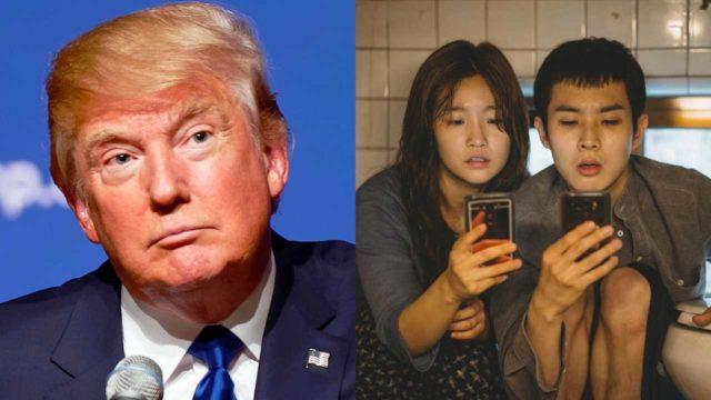 Donald Trump atacó a Parasite por haber ganado en los Oscar