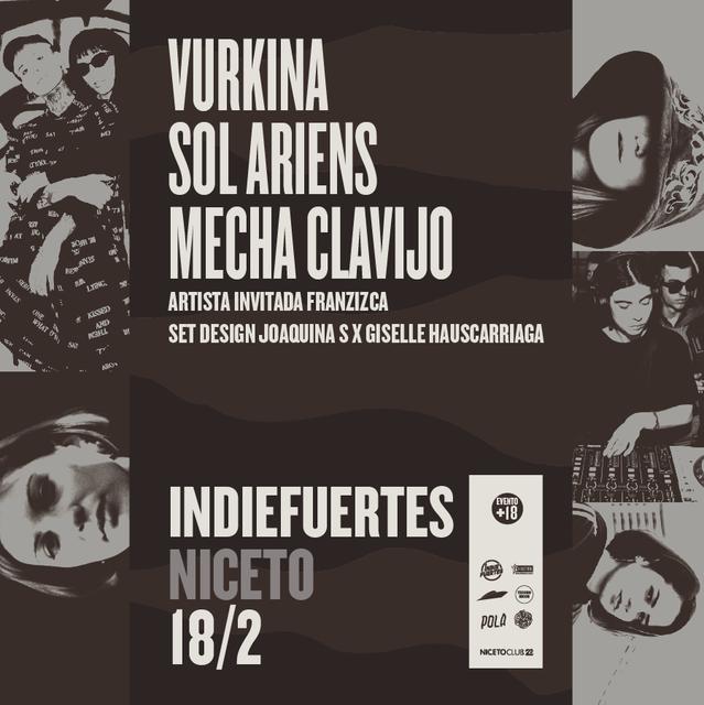 Vurkina, Sol Ariens, Mecha Clavijo y Franzizca en Niceto Club