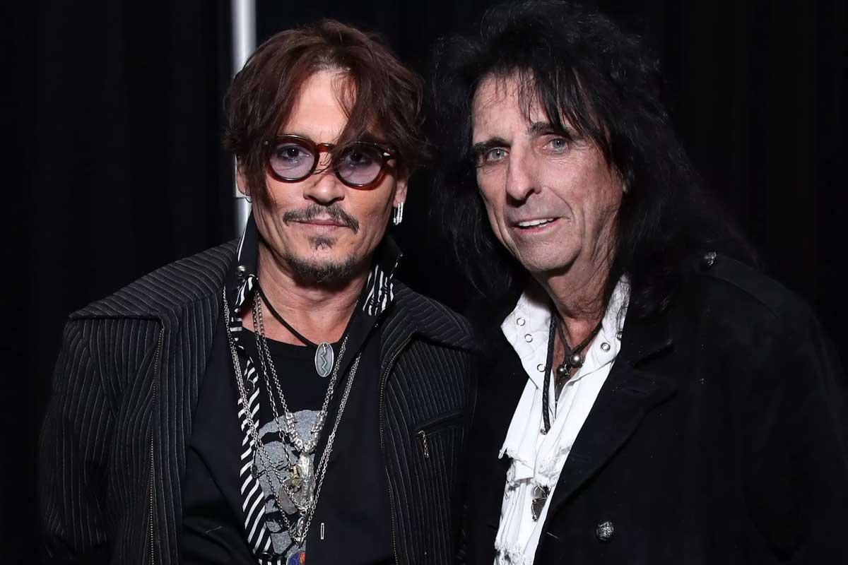 Johnny Depp y Alice Cooper