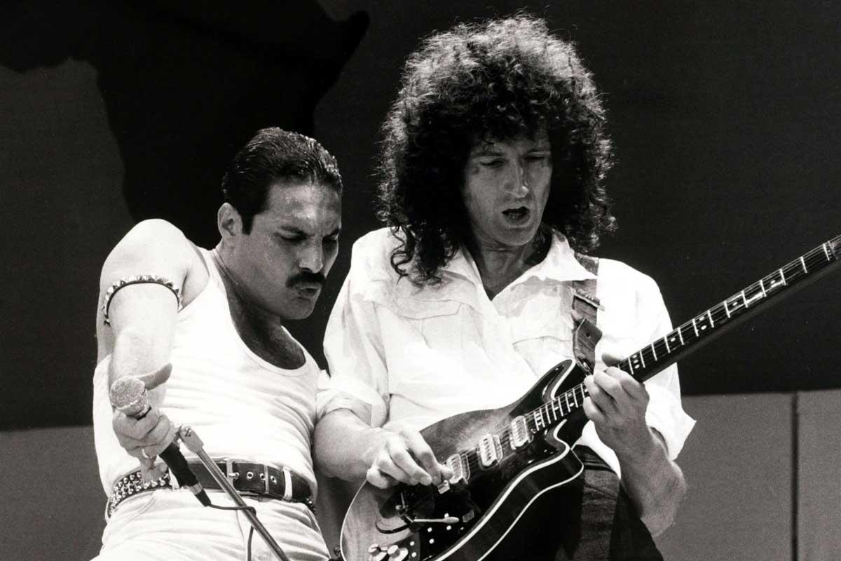 Freddie Mercury y Brian May.