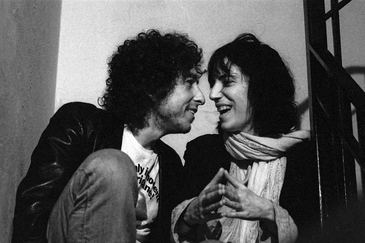 Patti Smith y Bob Dylan.